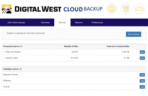 Cloud Backup Screenshot