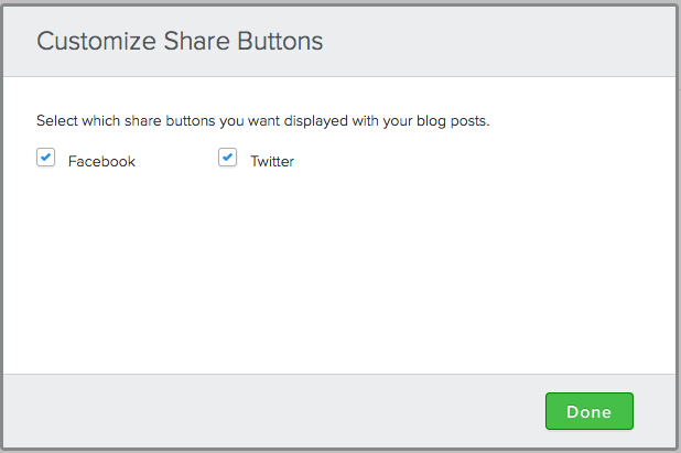 Customize sharing