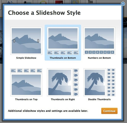 choose slideshow