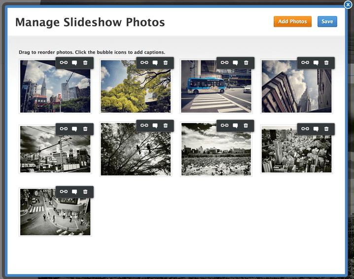 manage slideshow
