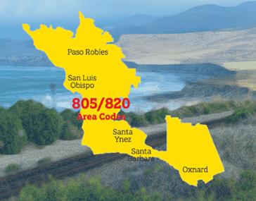 Central Coast 820 Area Code